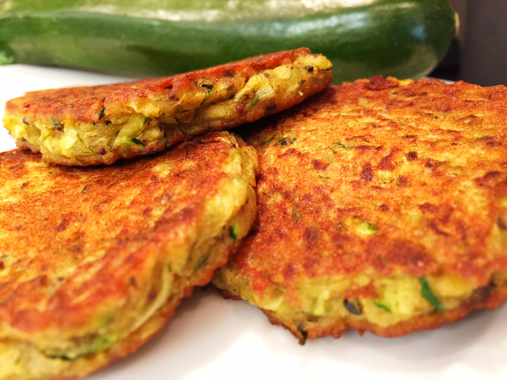 The Gourmet Vegan • Curried Courgette Fritters