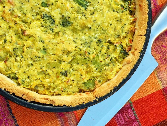Cheese and Brocolli Quiche2